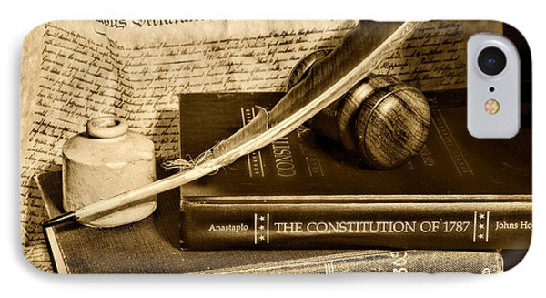 Lawyer - The Constitutional Lawyer In Black And White IPhone Case