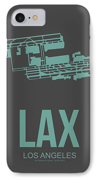 Lax Airport Poster 2 IPhone Case by Naxart Studio