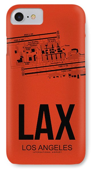 Lax Los Angeles Airport Poster 4 IPhone Case by Naxart Studio