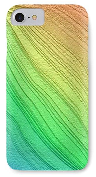 Layered South Polar Deposites IPhone Case by Nasa