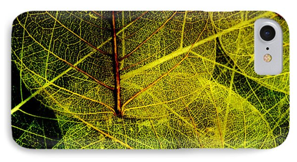 Layers Of Leaves Phone Case by Bonnie Bruno