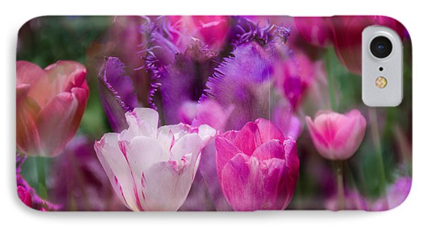 Layers Of Tulips IPhone Case by Penny Lisowski