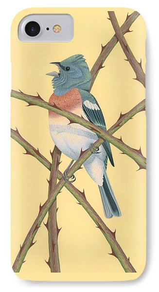 Lazuli Bunting IPhone 7 Case by Nathan Marcy