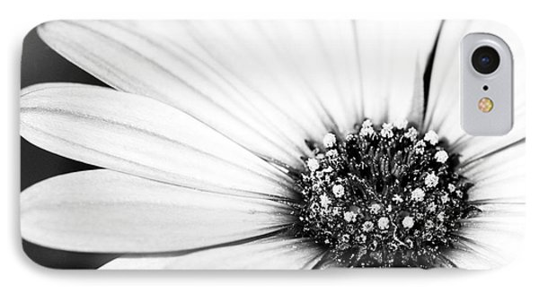 Lazy Daisy In Black And White Phone Case by Sabrina L Ryan