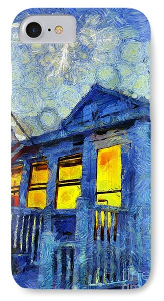 Lazy Daze Beach Cottage On Fourth Of July IPhone Case by Edward Fielding
