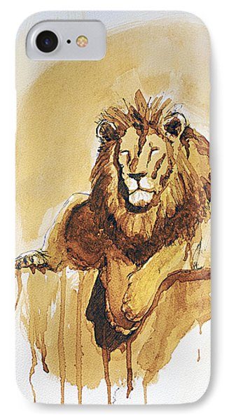 Lazy Leo IPhone Case by Howard Barry