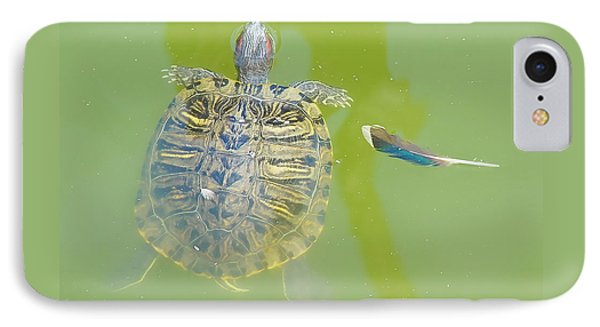 Lazy Summer Afternoon - Floating Turtle IPhone Case by Menega Sabidussi