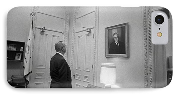 Lbj Looking At Fdr IPhone Case