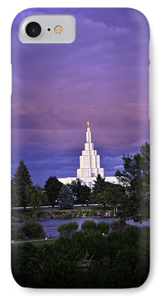 Lds Temple Of Idaho Falls IPhone Case by Image Takers Photography LLC - Carol Haddon