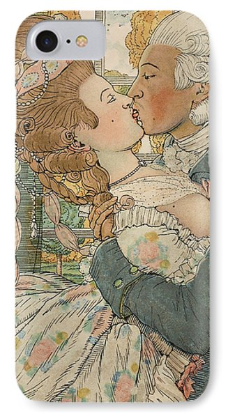 Le Baiser IPhone Case by Konstantin Andreevic Somov