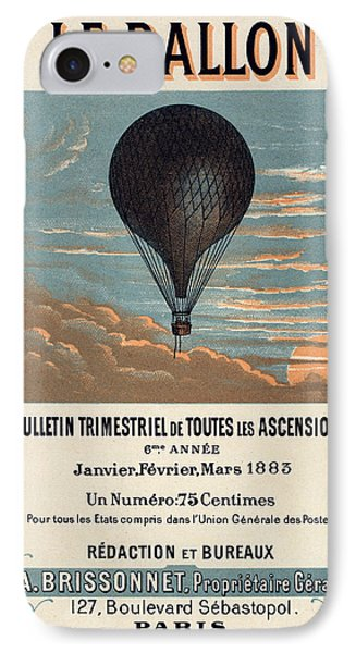 Le Ballon Advertising For French Aeronautical Journal IPhone Case by Georgia Fowler