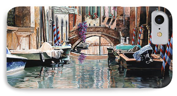 Le Barche E I Pali Colorati IPhone Case by Guido Borelli