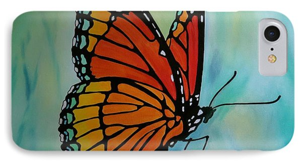 IPhone Case featuring the painting Le Beau Papillon by Jo Appleby