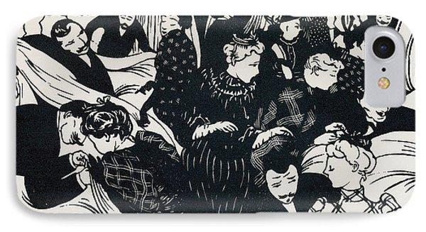Le Bon Marche IPhone Case by Felix Edouard Vallotton