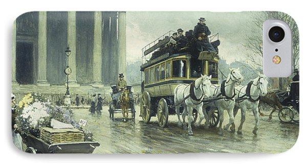 Le Boulevard A La Madeleine IPhone Case by Paul Fischer