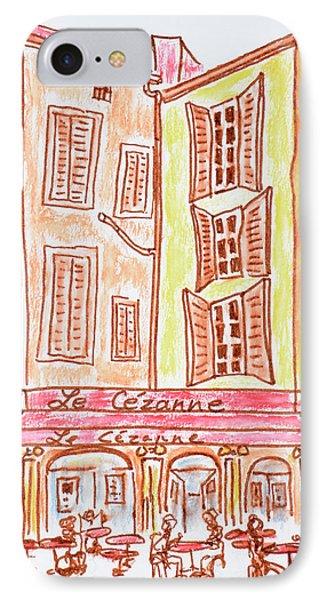 Le Cezanne Cafe, Aix En Provence, France IPhone Case