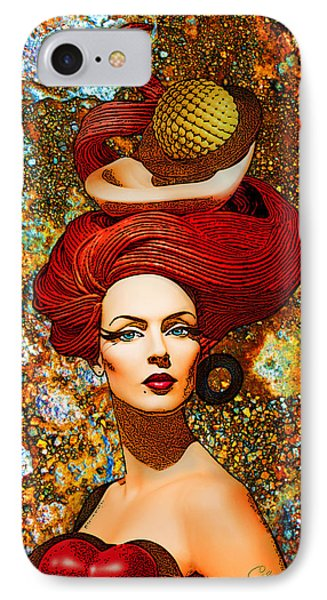 Le Cheveux Rouges Phone Case by Chuck Staley