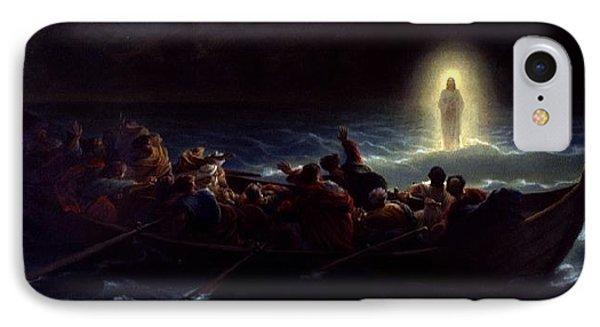 Le Christ Marchant Sur La Mer IPhone Case by Amedee Varint