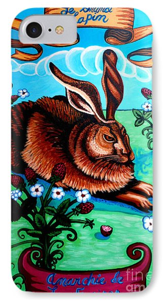 Le Grand Lapin Anarchie Phone Case by Genevieve Esson