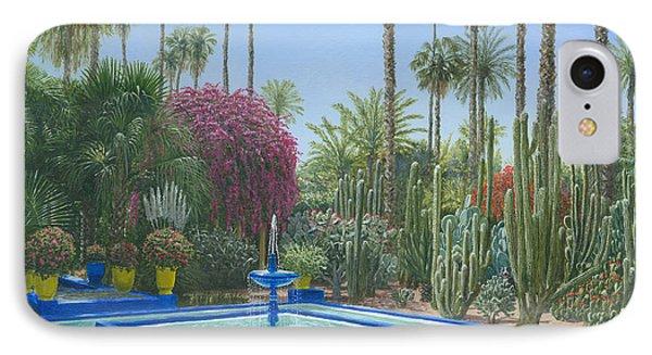 Le Jardin Majorelle Marrakech Morocco IPhone Case