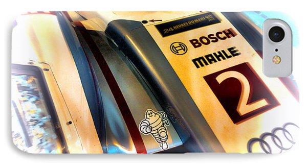 Le Mans 2013 Audi E-tron Quatro R18h IPhone Case by Olivier Le Queinec