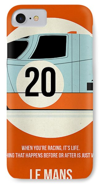Le Mans Poster IPhone Case by Naxart Studio