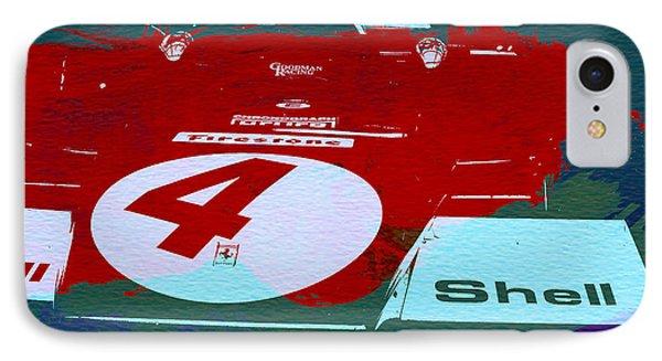 Le Mans Racing Car Detail IPhone Case by Naxart Studio