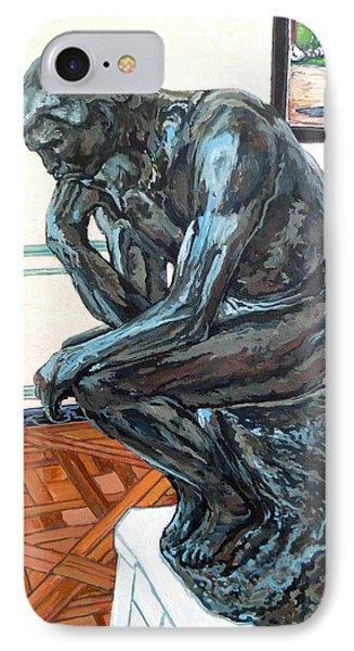 Le Penseur The Thinker Phone Case by Tom Roderick