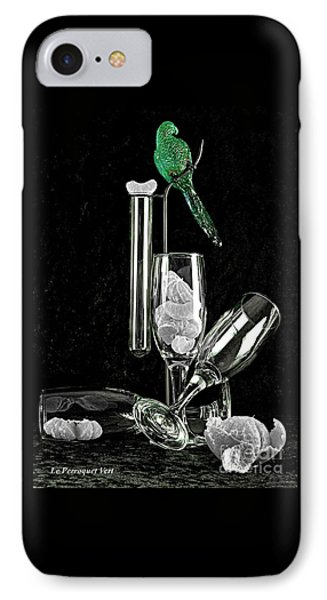 IPhone Case featuring the photograph Le Perroquet Vert by Elf Evans