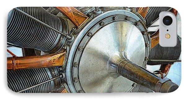 Le Rhone C-9j Engine IPhone Case by Michelle Calkins