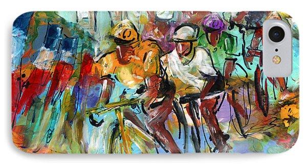Le Tour De France Madness 02 IPhone Case by Miki De Goodaboom
