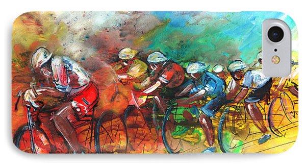 Le Tour De France Madness 05 IPhone Case by Miki De Goodaboom