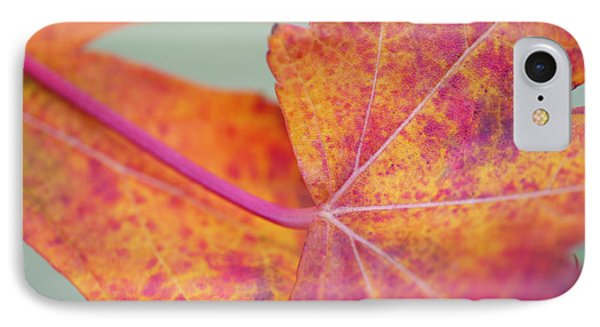 Leaf Abstract In Pink Phone Case by Irina Wardas