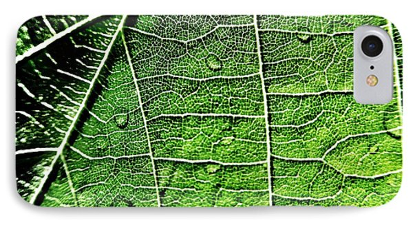 Leaf Abstract - Macro Photography Phone Case by Marianna Mills