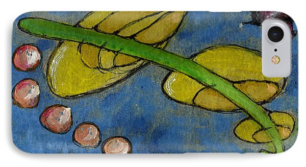 Leaf And Ladybug Series No. 5 IPhone Case by Cathy Peterson