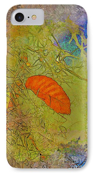 Leaf In The Moss Phone Case by Deborah Benoit