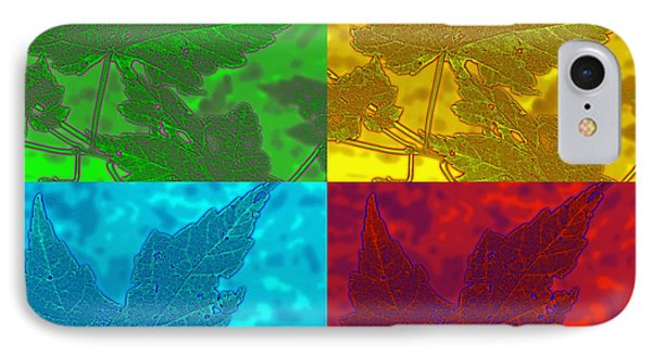 Leaf Pop Art Phone Case by Barbara McDevitt