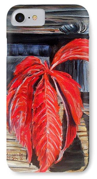 Leaf Shadow 2 IPhone Case by Marilyn  McNish