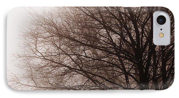 Leafless Tree In Fog Phone Case by Elena Elisseeva