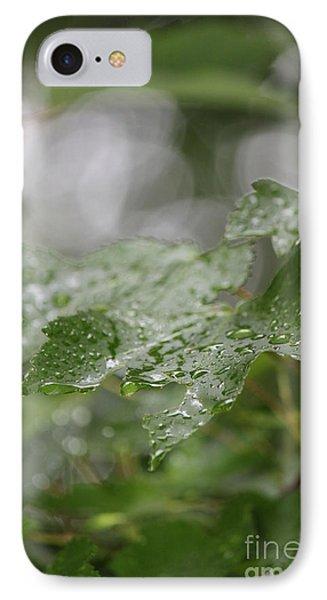 Leafy Raindrops IPhone Case
