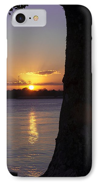 IPhone Case featuring the photograph Leake Avenue Mississippi River Sunset by Ray Devlin