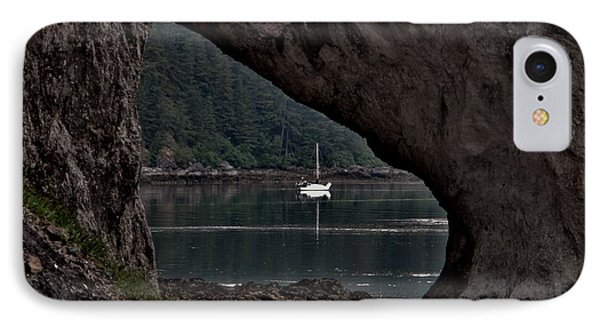 IPhone Case featuring the photograph Lealea At Anchor by Laura  Wong-Rose