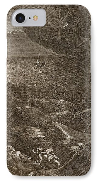 Leander Swims Over The Hellespont IPhone Case by Bernard Picart