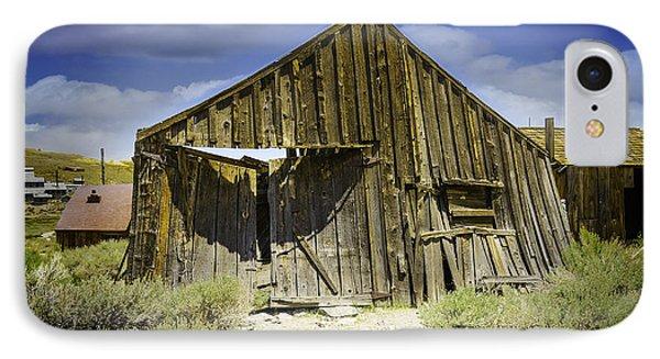 Leaning Barn Of Bodie California Phone Case by LeeAnn McLaneGoetz McLaneGoetzStudioLLCcom
