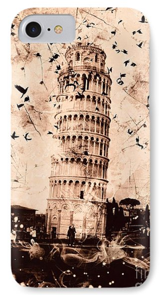 Leaning Tower Of Pisa Sepia IPhone Case