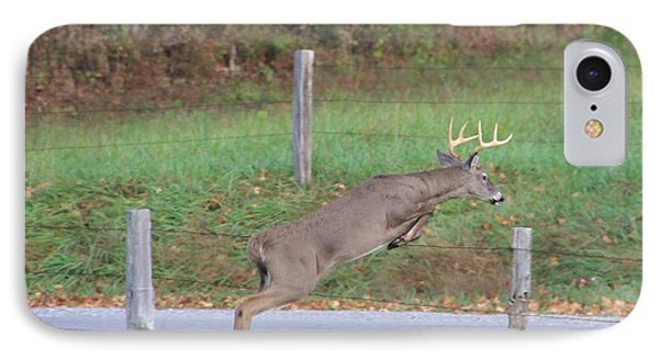 Leaping Buck In Smoky Mountains IPhone Case by Dan Sproul