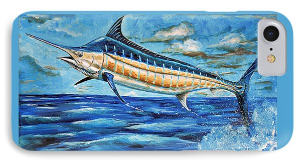 Leaping Marlin IPhone Case by Steve Ozment