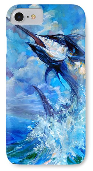 90ea235bf2b93 Guy Harvey iPhone 7 Case - Leaping Marlin by Tom Dauria