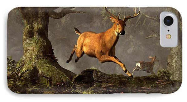 Leaping Stag IPhone Case