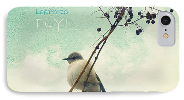 Learn To Fly IPhone Case by Robin Dickinson